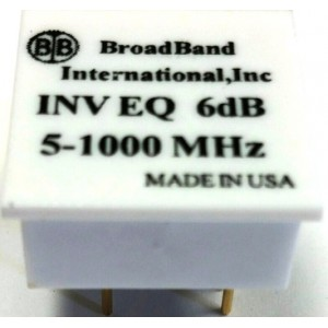 Broadband International® Inverse Equalizer, 1 GHz, for 1 GHz Taps