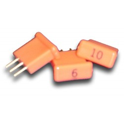 Broadband International® Attenuator Pad 1.2 GHz, Orange Short
